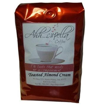 Ahh..Cupella Premium Gourmet Toasted Almond Cream Flavored Whole Bean Coffee, 32oz bag