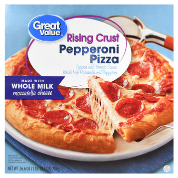 Great Value Frozen Rising Crust Pepperoni Pizza, 26.6 oz
