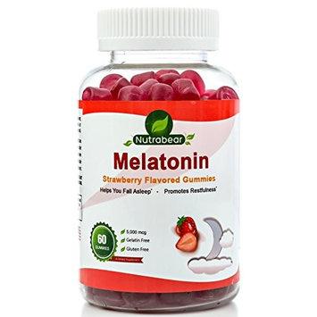 Melatonin Gummies, a Delicious Sleep Aid - 5mg - A Chewable Supplement, by Nutrabear