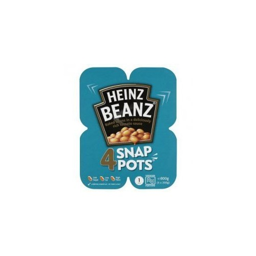 Heinz Baked Beanz Snap Pot (4x200g) Pack of 6 (Perfect for the British Expat)