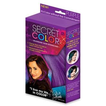 Allstar Secret Color Headband Hair Extensions Purple