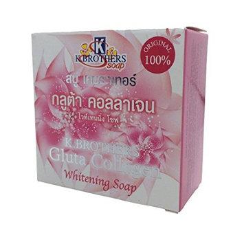 1 x 100G. of ORIGINAL 100% K.BROTHERS GLUTA COLLAGEN WHITENING SOAP for Facial & Body - Deep Clean, Reduce Dark Spots, Skin Brightening