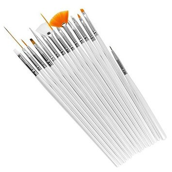 15Pcs Nail Art Tools Paint Dot Draw Pen Line Brush Detailing Set UV Gel DIY Decorations AOSTEK(TM)