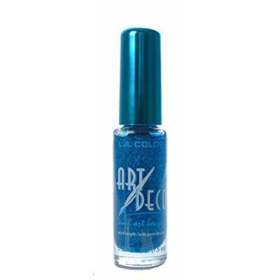 L.A. Colors 5 Pcs Nail Art Nail Deco Nail Lacquer Nail Polish Blue Glitter