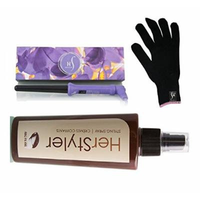 HerStyler Grande 18-25mm Curling Iron with FREE HerStyler Styling Spray (Purple)