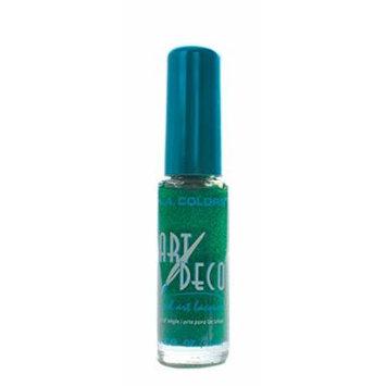 L.A. Colors 5 Pcs Nail Art Nail Deco Nail Lacquer Nail Polish Green Glitter