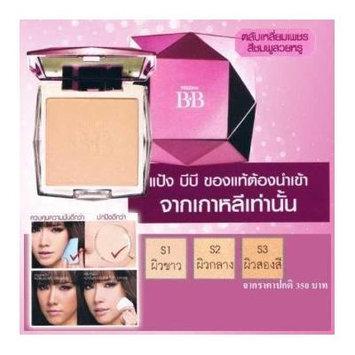 Korea Mistine BB Diamond Super Pressed Powder Blemish Balm Foundation Spf25. +Free Shipping World Wide