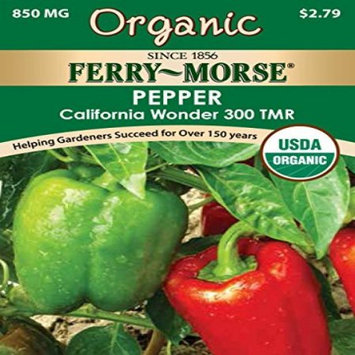 Ferry-morse Organic Garden Supply. 850 mg Pepper California Wonder 300 TMR Seed