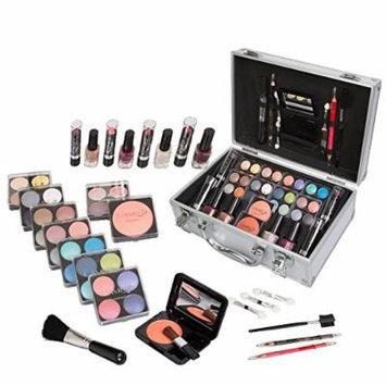Jumbl Carry All Trunk Makeup Kit with Reusable Aluminum Case, Holiday Set No. 1