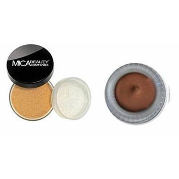 (Bundle of 2 Items) Mica Beauty Mineral Foundation Powder 9 Grams+ Gel Eyeliner in