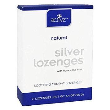 Activz Natural Silver Lozenges Honey and Mint 21 Lozenges