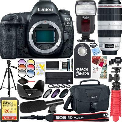 Canon EOS 5D Mark IV 30.4MP Digital SLR Camera with EF 100-400mm IS II USM Lens Bundle