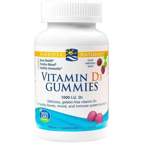 Vitamin D Gummies Travel Size Nordic Naturals 20 Gummy