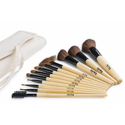 Karity Cosmetics Studio 12-Piece Natural Hair Makeup Brush Set With Pouch - Bamboo