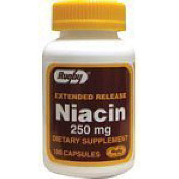 Extended Release Niacin 250 mg 100 Caps by Rugby