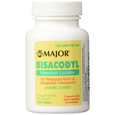 Qualitest Pharmaceuticals Bisacodyl Tablets 5 Mg 1000