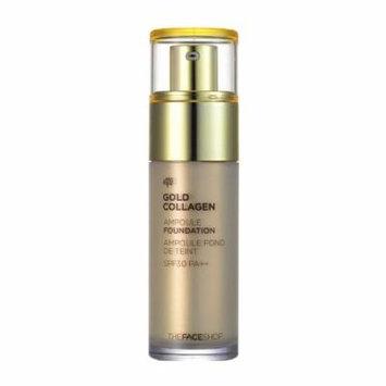 [The Face shop] Gold Collagen Ampoule Foundation SPF30 PA++ 40ml V201