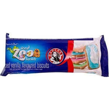 BAKERS ICED ZOO BISCUITS 2 BY 150GM PACKETS PRODUCT OF SOUTH AFRICA
