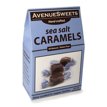 Sea Salt Caramels Gift Candy Individual Wrapped - Food Snacks Candy Thank You Gift (Sea Salt 8oz Box)