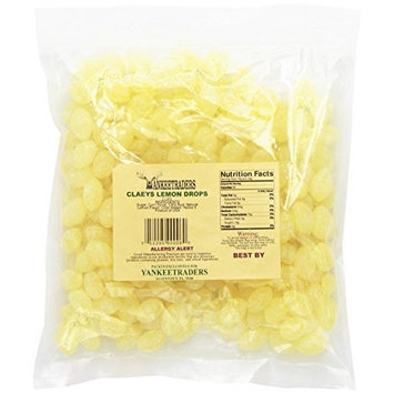 Claeys Sanded Candy Drops, Lemon, 2 Pound [Lemon]