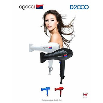 H2PRO Agacci Hair Dryer 1900 Watt - D2000 Featherweight White Made in Korea