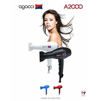H2PRO Agacci Hair Dryer 1900 Watt - A2000 Jet Stream White Made in Korea
