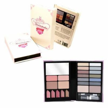 Makeup Beauty Kit - Comes with Eyeshadow Palette in 14 Different Colors - 5 Lip Gloss - Lip Stick Lip Brush - 2 Rosy Blush Colors with Soft Brush for easy Application - 2 sided Eyeshadow Applicators - 2 Tanned Bronzers - 1 Mirror - This Travel Case is...