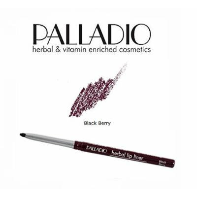 3 Pack Palladio Beauty Retractable Lip Liner 09 Black Berry