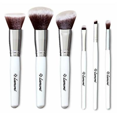 Blush Makeup Brush Set - Kabuki Foundation Powder Eyeshadow Eye Brushes - 6 Piece Essential Kit - Top Choice Premium Quality Synthetic Bristles - Apply Your Flawless Finish