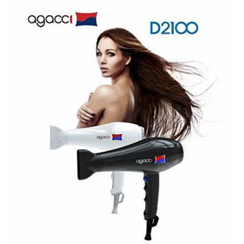 H2PRO Agacci Hair Dryer 2000 Watt - D2100 Featherweight White Made in Korea