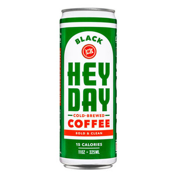 HEYDAY Bold & Clean Black Cold Brew Coffee 11 oz Cans - Pack of 12