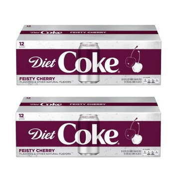 Diet Coke Feisty Cherry 12 oz Can (pack of 12)