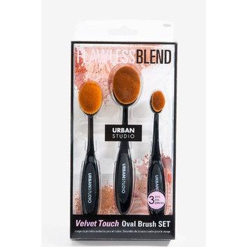 Urban Studio Velvet Touch Oval Brush Set 76241 Black