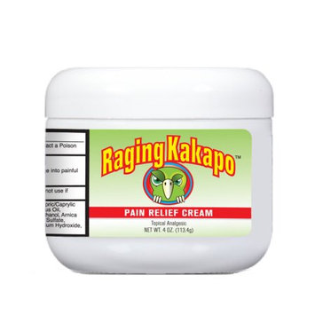 Effihealth Consumer Products Raging Kakapo Pain Relief Cream 4 Ounce, Blending Modern Science with Nature's Best Ingredients From Australia, New Zealand and Beyond. Arthritis, Joint Aches and Pain.