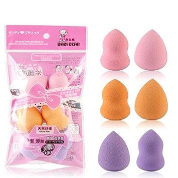 LUNIWEI Beauty 6PCS Multi Shape Sponge Flawless Make-Up Puff(Random Color)
