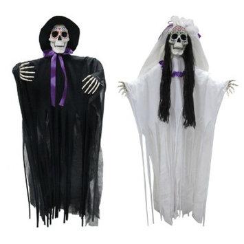 Halloween Dod Bride And Groom Set Of 2