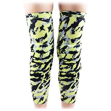 COOLOMG 2 Packs (1 Pair) Kids Adult EVA Pads Crashproof Basketball Leg Knee Long Sleeve Protector Gear XS-XL