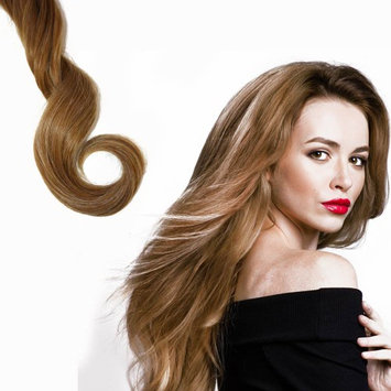 Global Digitrade Hollywood Hair 18' Clip-in Hair Extensions Full Head Promo Pack - 3 Rows for the price of 2 - Golden Dark Blonde