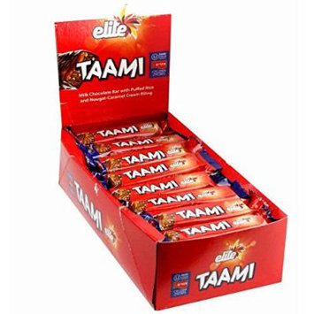 Elite Taami Milk Chocolate Bar with Puffed Rice and Nougat-Caramel filling 1.4 oz.