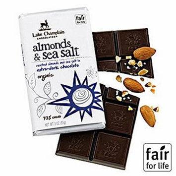 Lake Champlain Dark Chocolate Almonds & Sea Salt Organic Chocolate Bar