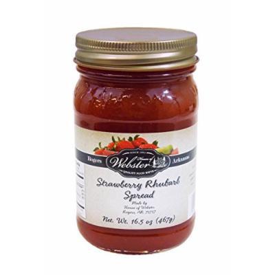 House of Webster Strawberry Rhubarb - No Sugar Added - 100% Fruit Spread 16.5 oz