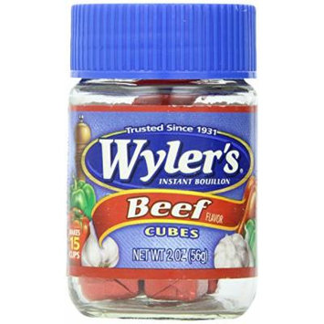 Wyler's Instant Beef Bouillon Cubes, 2 Ounce Jars (Pack of 4)