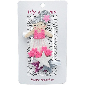 Lily & Momo Hair Clips, Flower Stardust Fairy, 2 Count