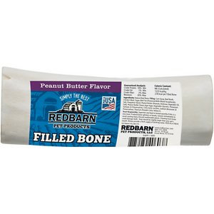 Redbarn Large Peanut Butter Filled Bones Dog Treats, 6-in chew, 1 count