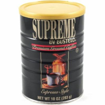Supreme by Bustelo Espresso Style Premium Ground Coffee Tin 10 Ounce, Pack of 2
