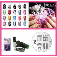 Konad Nail Art Mini Set Polish, Stamper, & Scraper + Image Plate M71 Girly Lace + A-Viva Nail File