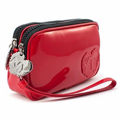 myNY DKNY Donna Karan New York Red lipstick Wristlet Clutch - Travel Cosmetics case