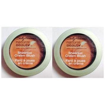 SALLY HANSEN Natural Beauty Sheerest Cream Blush SUNRISE #1010-10 (PACK OF 2 COMPACTS)
