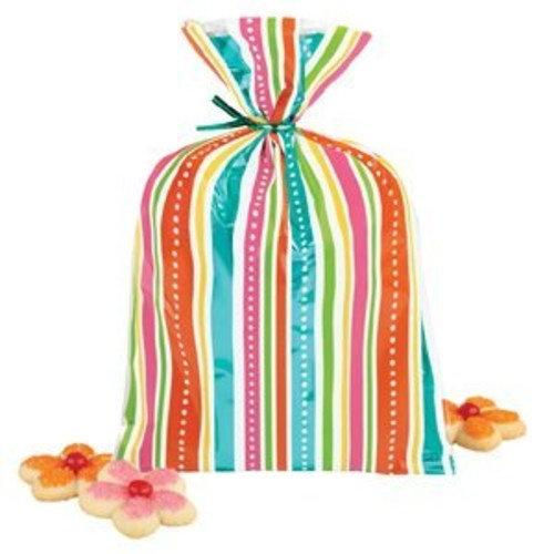 Wilton Foil Colored Stripe Treat Bags, 8 Count