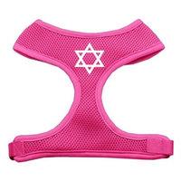 Mirage Pet Products 7026 XLPK Star of David Screen Print Soft Mesh Harness Pink Extra Large